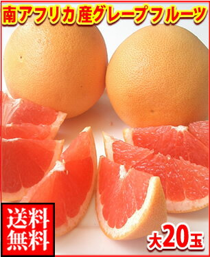 南アフリカ産グレープフルーツ赤大20玉送料無料¥5,500