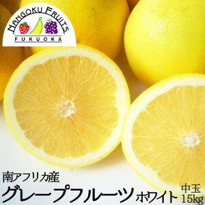 【送料無料】南アフリカ産 グレープフルーツ・ホワイト 中玉 45玉(約15kg)