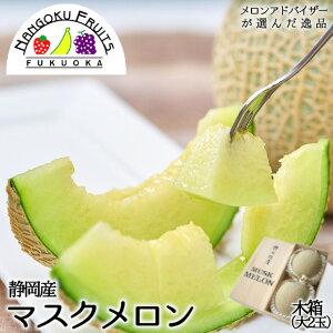 【送料無料】静岡マスクメロン2玉木箱入(大玉)