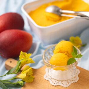 フルーツソムリエが作った濃厚ジェラート『マンゴー』こだわりアイス