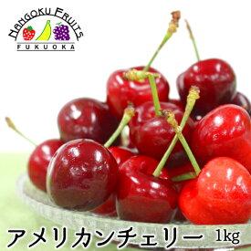 【送料無料】アメリカンチェリー 大粒 1kg