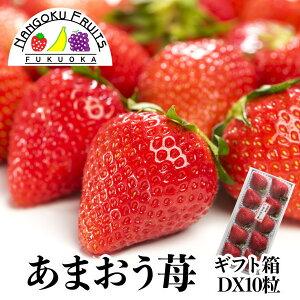 【送料無料】福岡産 あまおう苺 10粒 ギフト箱