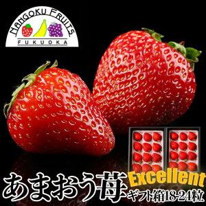 【送料無料】福岡産 あまおう苺 エクセレント 18-24粒