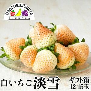 【予約販売・送料無料】福岡・佐賀産 白いちご淡雪ギフト箱(12-15粒)