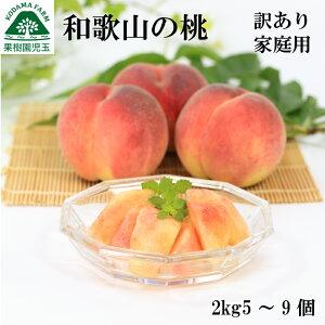 【送料無料】【指定日不可】和歌山の桃 訳あり家庭用 約2kg 5〜9玉