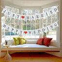 ガーランド 結婚式 飾り付け ウェディング ガーランド フォトプロップス 装飾 ハッピーウェディング 飾り 写真 撮影