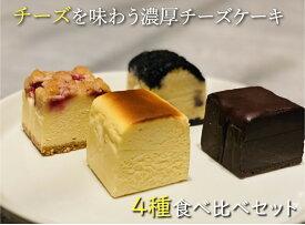 【送料無料】濃厚チーズケーキ 4種食べ比べセット4個入りR