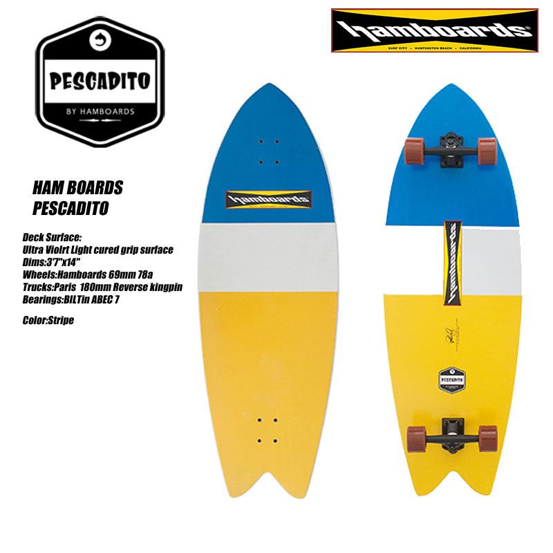 ハムボード ロングサーフスケートボードHAM BOARDS PESCADITO Stripe 【ランドSUP】【H100026】