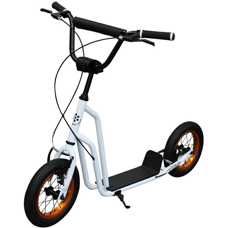 """【ポイント10倍】【キックボード】スクーターバイク SCOOTER BIKE 12"""" THE WHITE キックボード キックスケーター 自転車 のりもの(三輪車・乗用玩具)【送料無料】"""