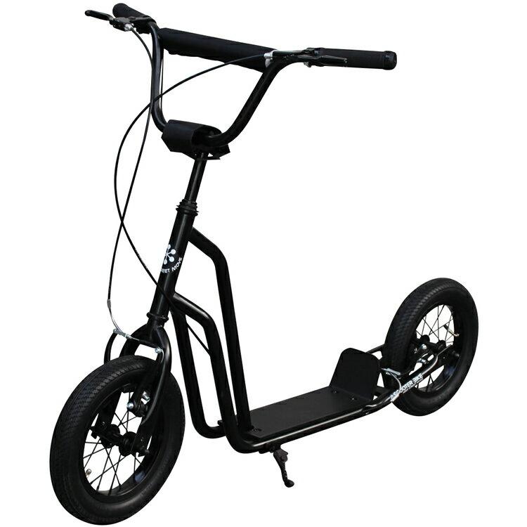 """【ポイント10倍】【キックボード】スクーターバイク SCOOTER BIKE 12"""" MAT BLACK キックボード キックスケーター 自転車 のりもの(三輪車・乗用玩具)【送料無料】"""
