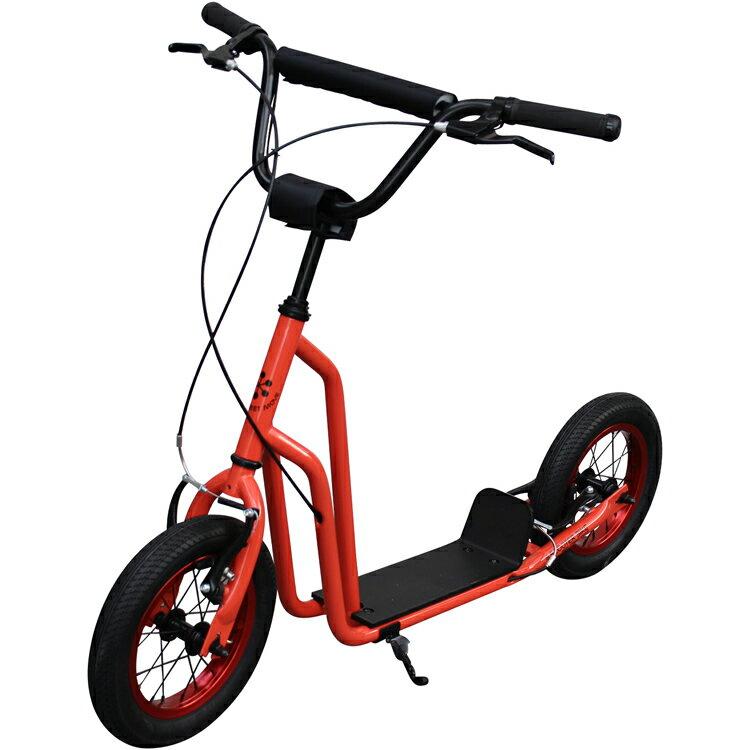 """【ポイント10倍】【キックボード】スクーターバイク SCOOTER BIKE 12"""" JET RED キックボード キックスケーター 自転車 のりもの(三輪車・乗用玩具)【送料無料】"""