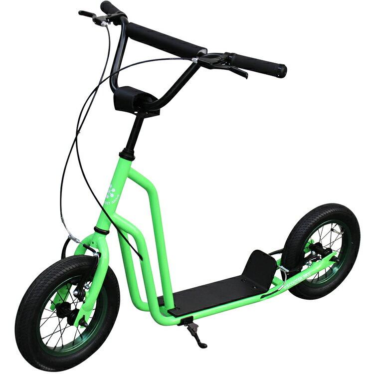 """【ポイント10倍】【キックボード】スクーターバイク SCOOTER BIKE 12"""" REEF GREEN キックボード キックスケーター 自転車 のりもの(三輪車・乗用玩具)【送料無料】"""