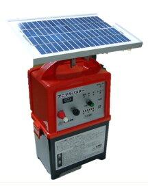 電気柵(さく) アニマルバスターNSDSR-5W5Wソーラー、バッテリー付電柵器
