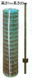 金網フェンスAF-1000 高さ100cm×長さ20m組立・施行が簡単!メッシュフェンスと支柱のセットドッグラン・侵入防止・DIYに太陽光発電の囲いに【送料無料(北海道・沖縄・離島を除く)】