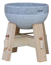 餅(もち)つき用石臼 3升用 御影石使用 木台付き