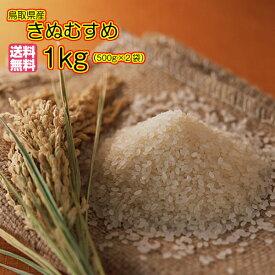 送料無料 鳥取県産きぬむすめ 1kg 500g×2袋 特A米令和元年産 新米1等米
