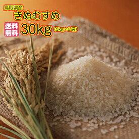 送料無料 鳥取県産きぬむすめ 30kg 玄米 5kg×6緑袋 特A米 令和元年産 新米1等米