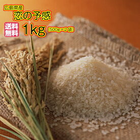 送料無料 広島県産恋の予感 1kg 500g×2袋30年産1等米