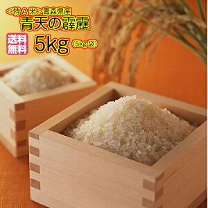 送料無料 青森県産 青天の霹靂 5kg 特A米令和2年産 新米1等米