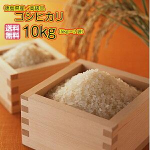 送料無料 徳島県産コシヒカリ10kg 5kg×2ゴールド袋 清流米 令和 3年産 1等米