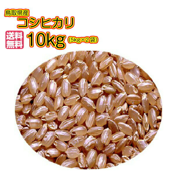 送料無料 鳥取県産コシヒカリ 10kg 玄米 5kg×2ゴールド袋当店高級品 30年産1等米