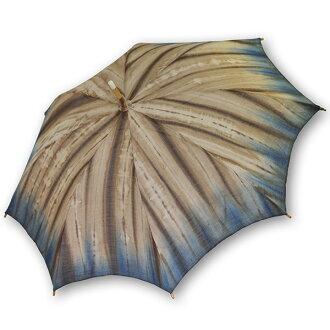 Linen parasol: Indigo 渋染me hem blur and