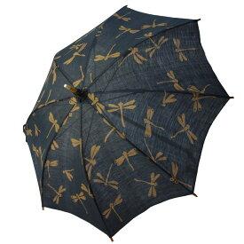 麻の日傘 シンプルなお仕立ての藍渋とんぼ