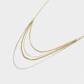 ウノアエレ K18 イエロー・ホワイトゴールド ネックレス イタリア製ネックレス ゴールド k18 18k 18金 レディース ジュエリー ギフト プレゼント ラッピング 送料無料