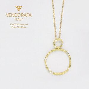 ベンドラファ K18 イエローゴールド ダイヤモンド プチネックレス イタリア製指輪 ダイアモンド ゴールド k18 18k 18金 レディース ジュエリー ギフト プレゼント ラッピング 送料無料