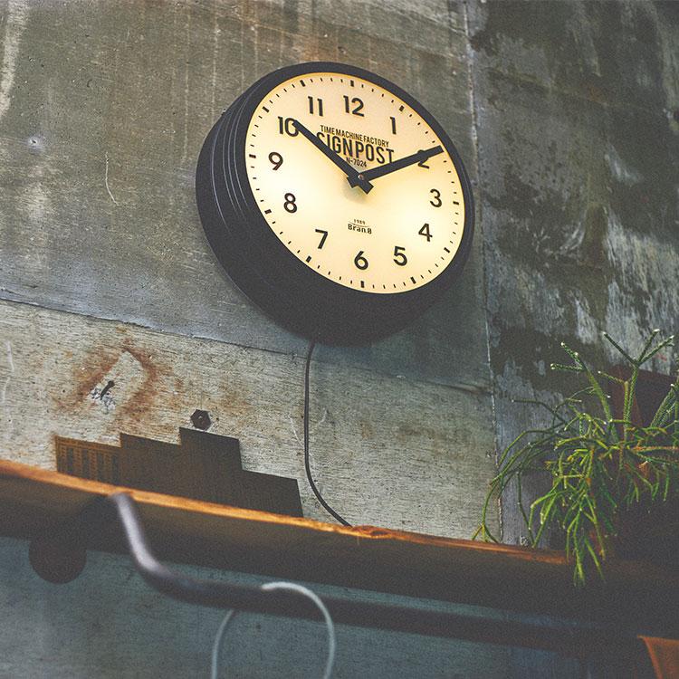 【送料無料】掛け時計 電波時計 セヴノークス CL-2139 インターフォルム【壁掛け時計 壁時計 壁掛時計 電波時計 時計 壁掛け 間接照明 照明 ライト インテリア 雑貨 アンティーク メンズライク シック アメリカン おしゃれ シンプル ギフト バレンタインプレゼント】