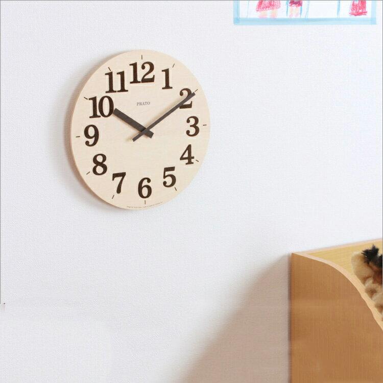 掛け時計 プラート[PRATO] NY12-07 レムノス[LEMNOS]【壁掛け時計 おしゃれ 掛時計 壁時計 時計 壁掛け 木製 木 ナチュラル ウッド デザイナーズ デザイナー インテリア 新生活 父の日】