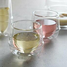 KINTO キントー KRONOS クロノス ダブルウォール ワイングラス 250ml【ワイングラス コップ タンブラー カップ グラス ワイン ガラス 耐熱ガラス 160ml プレゼント プチギフト おしゃれ かわいい 可愛い 女性 引越祝い 結婚祝い 誕生日】