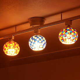 【照明 LED 対応 シーリングライト 1灯 ビードロ シーリング【ライト 照明器具 天井 おしゃれ ステンドグラス モザイク アンティーク レトロ 和室 玄関 トイレ 直付け アジアン 北欧 ガラス ダクトレール ダイニング 食卓用 新生活 インテリア 電気】