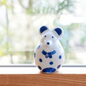 LisaLarson リサ・ラーソン 陶器 せっせとねずみ【波佐見焼 2020 ネズミ 干支 置物 子 可愛い かわいい 北欧 小物 おしゃれ 十二支 ねずみ の 置物 2020年 鼠 ギフト プレゼント お正月 オブジェ 干支シリーズ プチギフト】