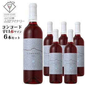 山辺ワイナリー コンコード 辛口 720ml×6本セット / 日本ワイン 長野県産