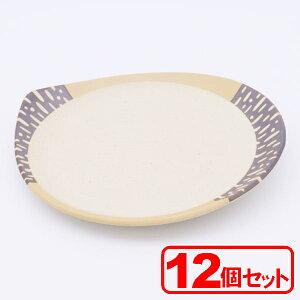 【12枚セット】美濃焼 白雫8.5皿(大皿)約26.1x23.7x3cm