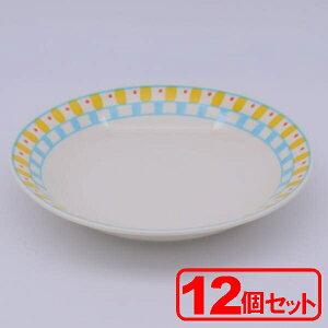 """""""【12個セット】美濃焼 キュービック9¥""""カレースープ(カレー皿)約22.3x3.8cm"""""""