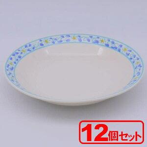 """""""【12枚セット】美濃焼 ミントフラワー 9¥""""カレースープ(カレー皿)約22.3x3.8cm"""""""