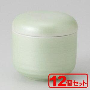 【12個セット】美濃焼 ヒワ銀彩丸むし碗(むし碗)約8x7.5cm 身=約200cc