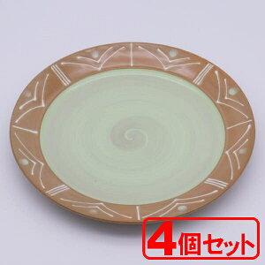 【4枚セット】美濃焼 ヴェールポンムパスタ皿(パスタ皿)約26.7cm