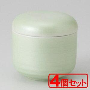【4個セット】美濃焼 ヒワ銀彩丸むし碗(むし碗)約8x7.5cm 身=約200cc