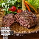 ハンバーグ ギフト 冷凍 送料無料 格之進 金格ハンバーグ 10個セット 国産牛 白金豚 無添加