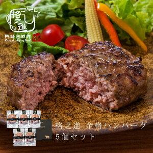 格之進 金格 ハンバーグ 5個セット ギフト 冷凍 送料無料 無添加 国産牛 白金豚