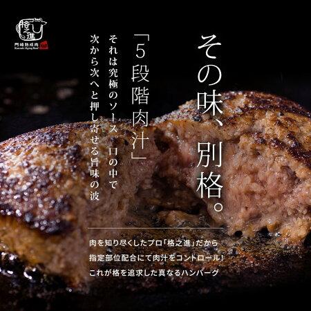 格之進金格ハンバーグ(5個セット)国産牛+白金豚+塩麹