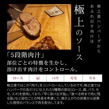 ハンバーグ内祝い国産ギフト冷凍送料無料格之進金格ハンバーグ(5個セット)国産牛白金豚