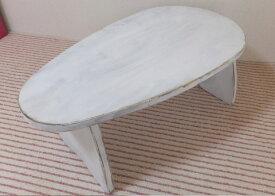 子供テーブル たまご(アンティーク ホワイト)【送料無料】【RCP】