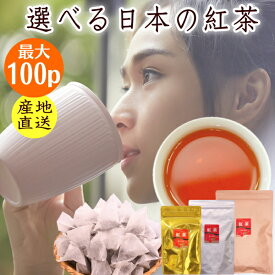 日本の紅茶 グレードで選べる和紅茶ティーバッグ 最大100個 静岡産 アイスティーでもホットでも 送料無料 ティーパック 1000円ポッキリ