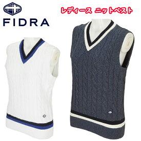 FI51UK01 FIDRA フィドラ コットンニットベスト レディースゴルフウェア