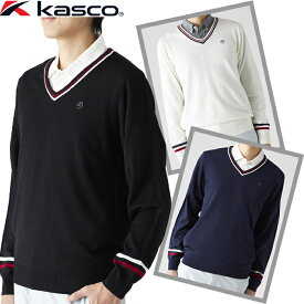 GKWST2068W キャスコ ライン入りVネックセーター