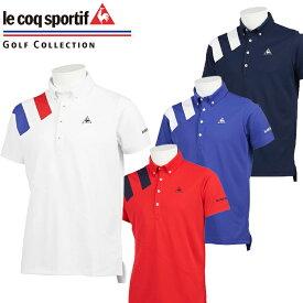 QGMQJA00 ルコックゴルフ ボタンダウン 半袖 ポロシャツ ゴルフウェア メンズ ウェア